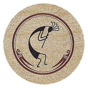 Kokopelli Sandstone Round Beverage Coasters, Set of 8
