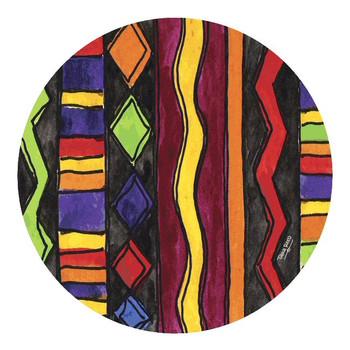 Southwest Weave Sandstone Round Coasters by Tara Reed, Set of 8