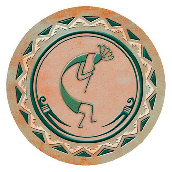 The Flute Player Kokopelli Absorbent Round Beverage Coasters, Set of 8