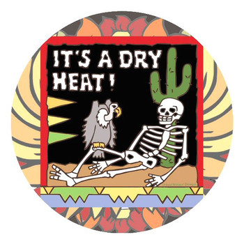 Its a Dry Heat Skeleton Coasters by Hand N Hand Designs, Set of 8