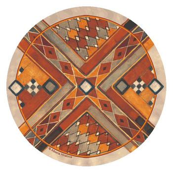 Southwest Pattern III Round Coasters by Albena Hristova, Set of 8