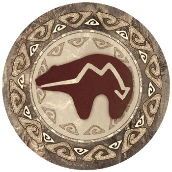 Spirit Bear Absorbent Round Beverage Coasters, Set of 12