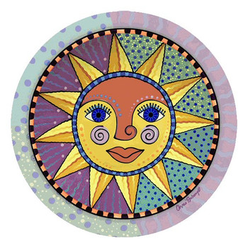 Sunburst Absorbent Round Beverage Coasters by Chris Bubany, Set of 12