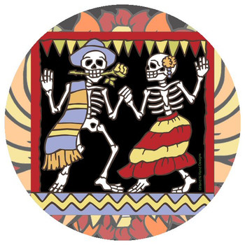 Dancers Skeletons Beverage Coasters by Hand N Hand Designs, Set of 12