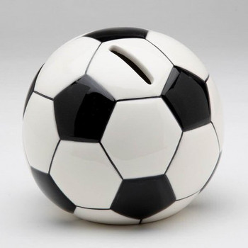 Soccer Ball Porcelain Coin Bank