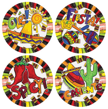 Ole Fiesta Beverage Coasters, Set of 8