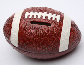 Football Porcelain Coin Bank