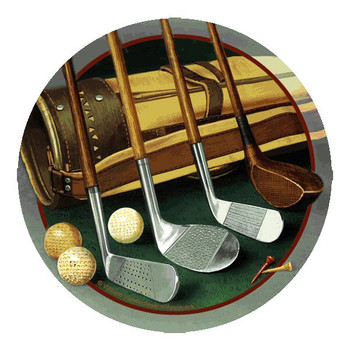 Club Line Up Golf Round Coasters by William Vanderdasson, Set of 8