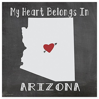 My Heart Belongs In Arizona Absorbent Beverage Coasters, Set of 8