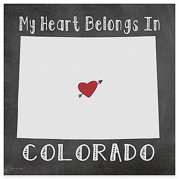 My Heart Belongs In Colorado Absorbent Beverage Coasters, Set of 8