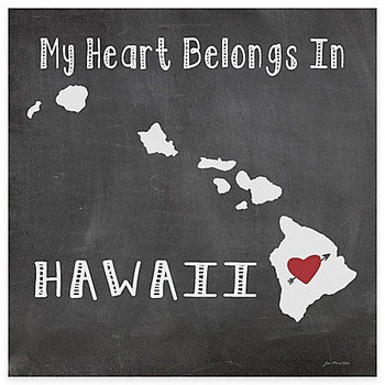 My Heart Belongs In Hawaii Absorbent Beverage Coasters, Set of 8
