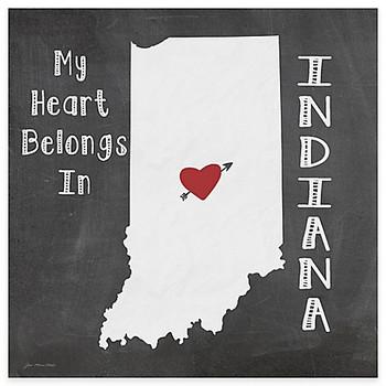 My Heart Belongs In Indiana Absorbent Beverage Coasters, Set of 8
