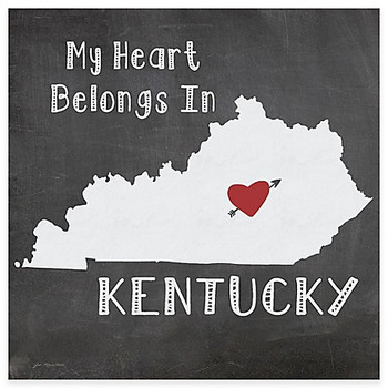 My Heart Belongs In Kentucky Absorbent Beverage Coasters, Set of 8