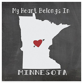 My Heart Belongs In Minnesota Absorbent Beverage Coasters, Set of 8
