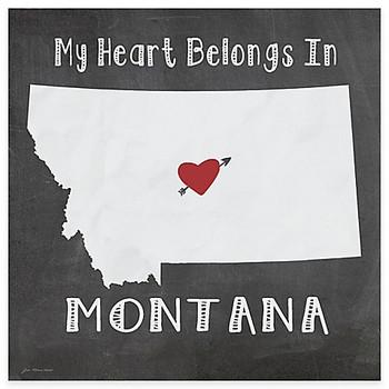 My Heart Belongs In Montana Absorbent Beverage Coasters, Set of 8