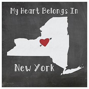 My Heart Belongs In New York Absorbent Beverage Coasters, Set of 8
