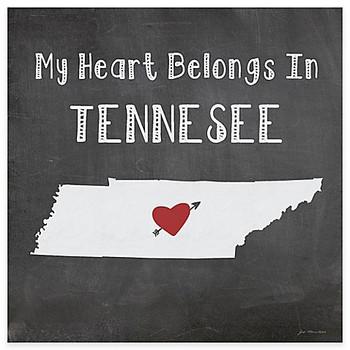 My Heart Belongs In Tennessee Absorbent Beverage Coasters, Set of 8