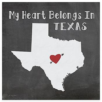 My Heart Belongs In Texas Absorbent Beverage Coasters, Set of 8