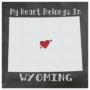 My Heart Belongs In Wyoming Absorbent Beverage Coasters, Set of 8