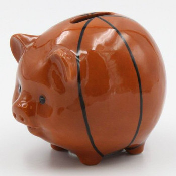 Basketball Porcelain Piggy Bank