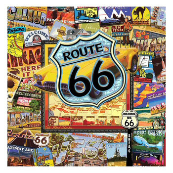 Route 66 II Absorbent Beverage Coasters by Kate Ward Thacker, Set of 8