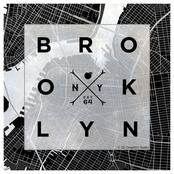 Brooklyn Square Absorbent Beverage Coasters, Set of 8