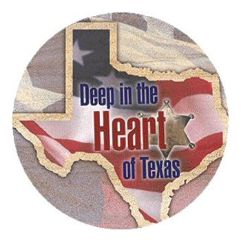 Deep in the Heart of Texas Sandstone Round Beverage Coasters, Set of 8