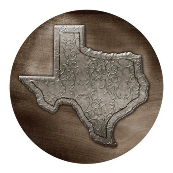 State of Texas Sandstone Round Beverage Coasters, Set of 8