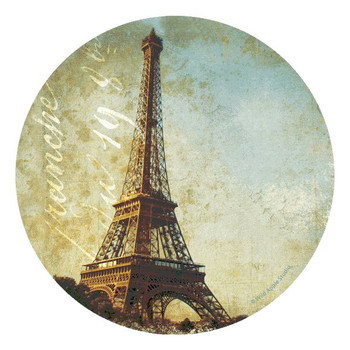 Golden Age of Paris Round Coasters by Wild Apple Studio, Set of 8