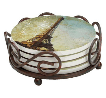 Golden Age of Paris Absorbent Beverage Coasters, Set of 10