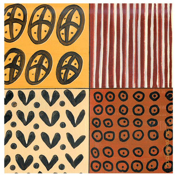 Tribal Pattern III Absorbent Beverage Coasters by D. Davis, Set of 12