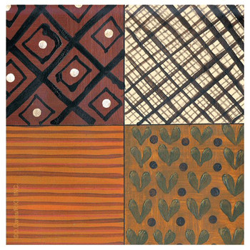 Tribal Pattern IV Absorbent Beverage Coasters by D. Davis, Set of 12