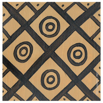 Tribal Pattern I Third Beverage Coasters by D. Davis, Set of 12