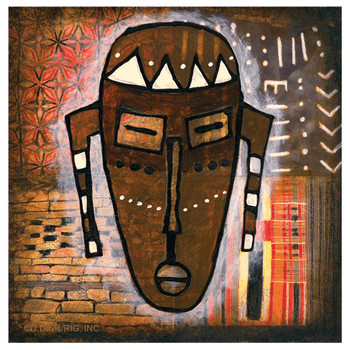 Tribal Mask I Absorbent Beverage Coasters by D. Davis, Set of 12