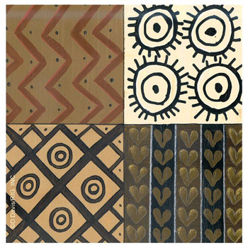 Tribal Pattern I Absorbent Beverage Coasters by D. Davis, Set of 12