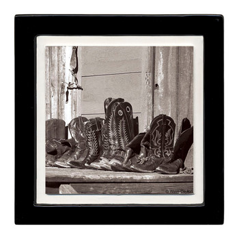 Resting Boots Beverage Coasters, Set of 8