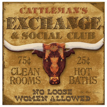 Cattleman's Exchange Beverage Coasters by Kate Ward Thacker, Set of 8