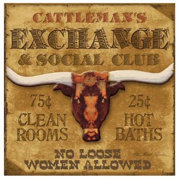 Cattleman's Exchange Beverage Coasters by Kate Ward Thacker, Set of 8