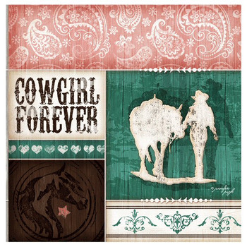 Cowgirl Forever Absorbent Beverage Coasters, Set of 8