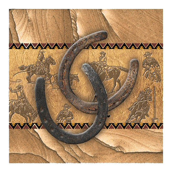 Horseshoes Cinnabar Sandstone Beverage Coasters, Set of 8