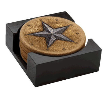 Western Star Cork Beverage Coasters, Set of 14