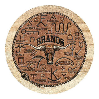Brands Sandstone Round Beverage Coasters, Set of 8