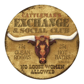 Cattleman's Exchange Sandstone Coasters by Kate Ward Thacker, Set of 8