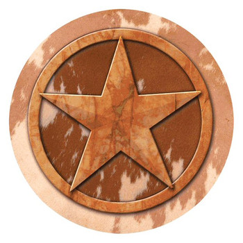 Texas Lone Star Absorbent Round Beverage Coasters, Set of 8
