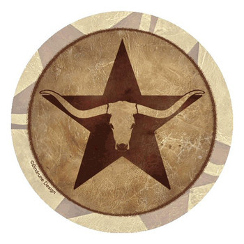 Western Star Longhorn Steer Coasters by Bindrune Design, Set of 8