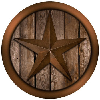 Texas Star on Barnwood Absorbent Round Beverage Coasters, Set of 12