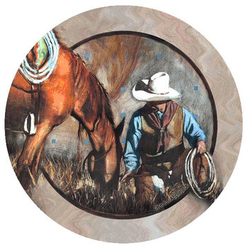 A Single Moment Cowboy & Horse Beverage Coasters by J.E. Knauf, Set/12