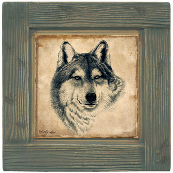 Wolf Beverage Coasters, Set of 8