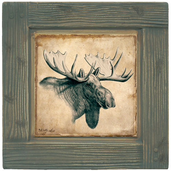 Moose Beverage Coasters, Set of 8
