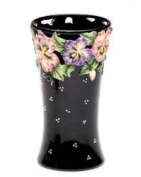 Pansy Flower Ceramic Vase
